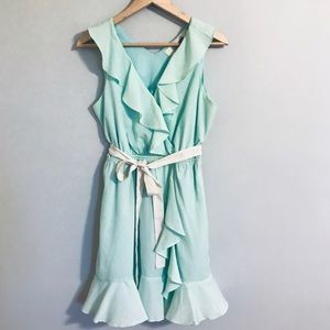 Gorgeous pistachio/mint ruffle dress